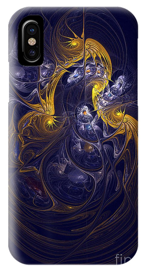 Digital IPhone X Case featuring the digital art Goddess Of Healing Energy by Deborah Benoit