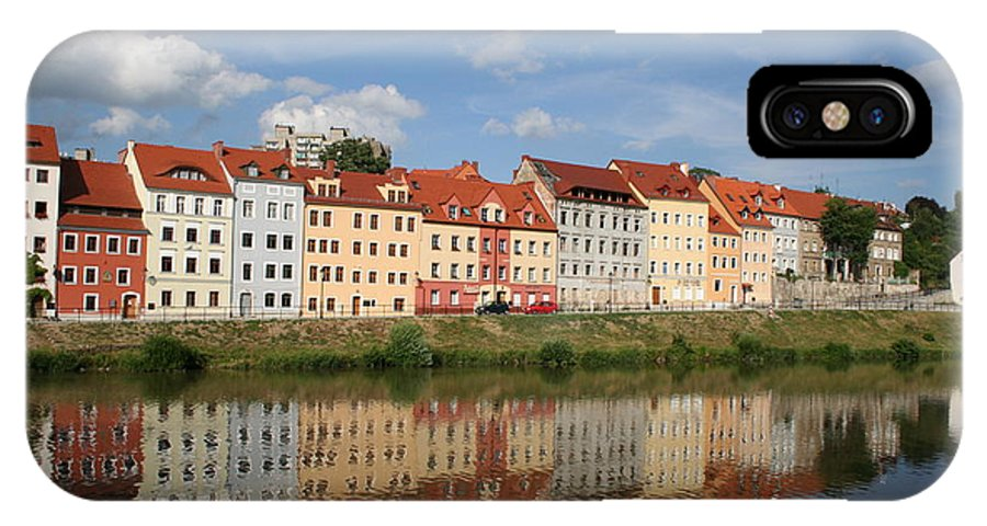 Row Of Houses IPhone X Case featuring the photograph Goerlitz Germany by Christiane Schulze Art And Photography