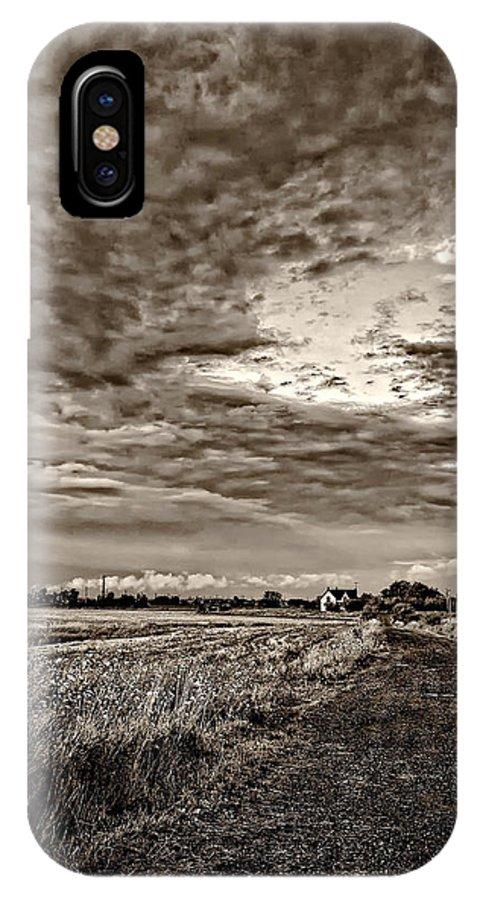 Farm IPhone X Case featuring the photograph Goin' Home Sepia by Steve Harrington