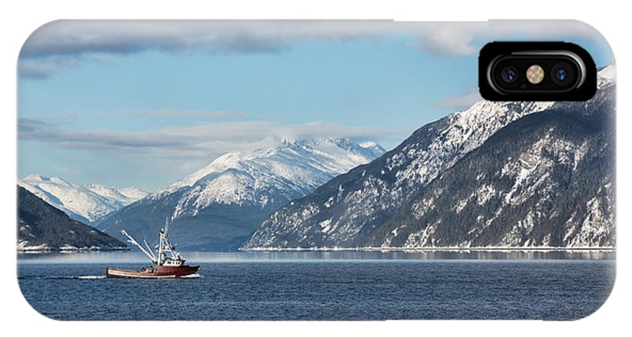 Alaska IPhone X Case featuring the photograph Going Fishing by Michele Cornelius