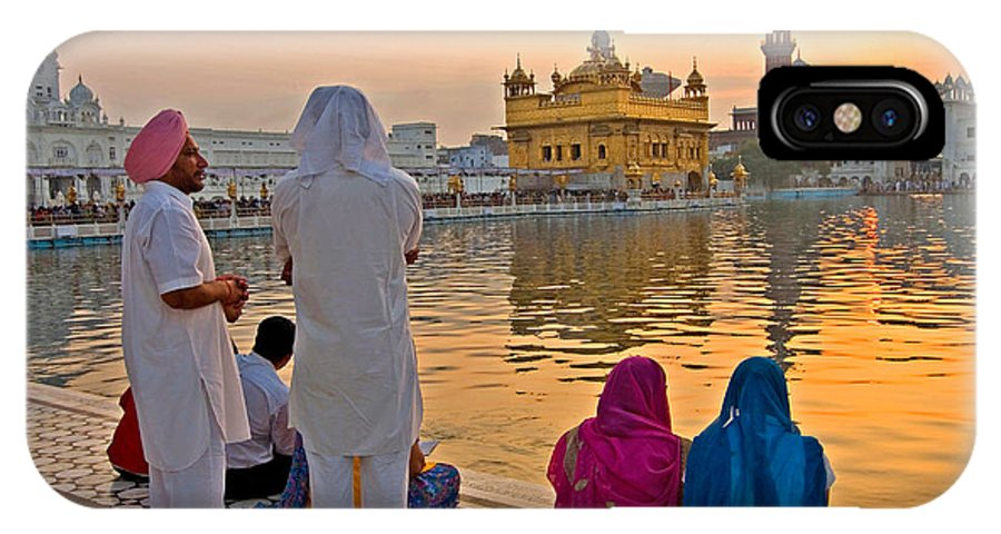 Golden Temple IPhone X Case featuring the photograph Gold Everywhere by Devinder Sangha