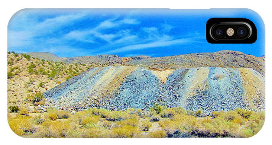 Sky IPhone X Case featuring the photograph Gold Mine Tailings by Marilyn Diaz