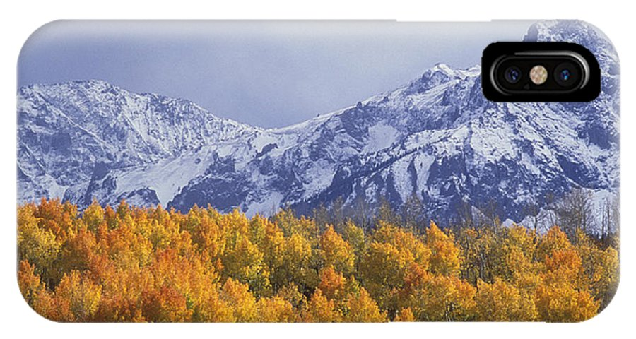Colorado IPhone X Case featuring the photograph Golden Aspens With Mt. Sneffels by Beth Wald