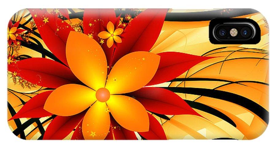 Autumn IPhone X Case featuring the digital art Golden Autumn by Gabiw Art