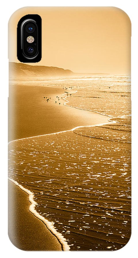 Beach IPhone X Case featuring the photograph Golden Beach 1 by Jeana Childress