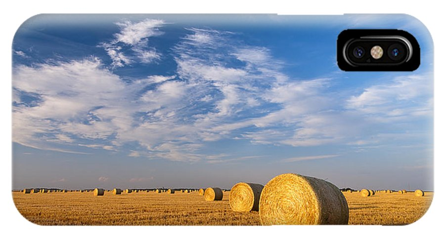 Cut Wheat Field Photograph IPhone X Case featuring the photograph Golden Brown by Nebojsa Novakovic