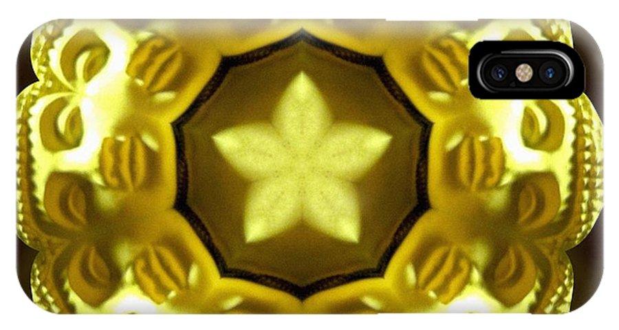 Sacredlife Mandalas IPhone X Case featuring the photograph Golden Buddha Star by Derek Gedney