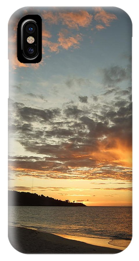 IPhone X Case featuring the photograph Golden Clouds At Grand Anse by Katerina Naumenko