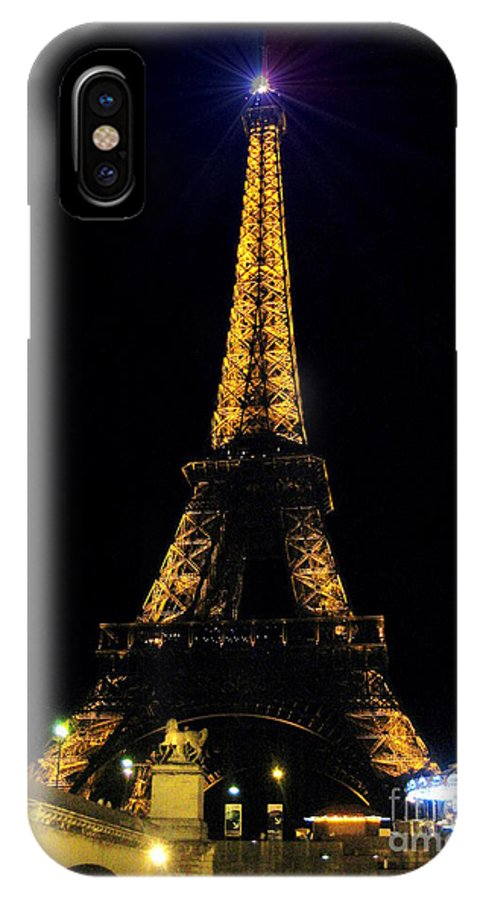 Art Photography By Frederick Luff IPhone X Case featuring the photograph Golden Eiffel Tower by Europe Travel Gallery