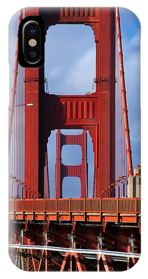 3scape IPhone X Case featuring the photograph Golden Gate Bridge by Adam Romanowicz