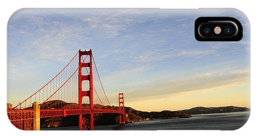 Golden Gate Bridge IPhone X Case featuring the photograph Golden Gate Bridge 2 by Catherine Lau