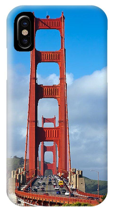 3scape IPhone X Case featuring the photograph Golden Gate Bridge by Adam Romanowicz