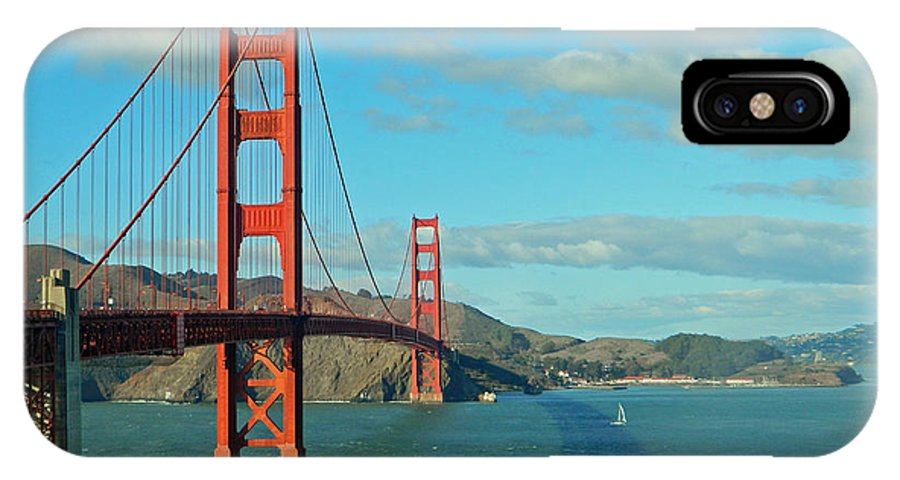 Golden Gate Bridge IPhone X Case featuring the photograph Golden Gate Bridge by Emmy Marie Vickers