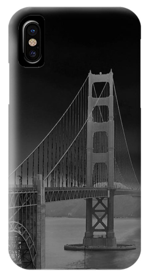 Connie Fox IPhone X Case featuring the photograph Golden Gate Bridge To Sausalito by Connie Fox