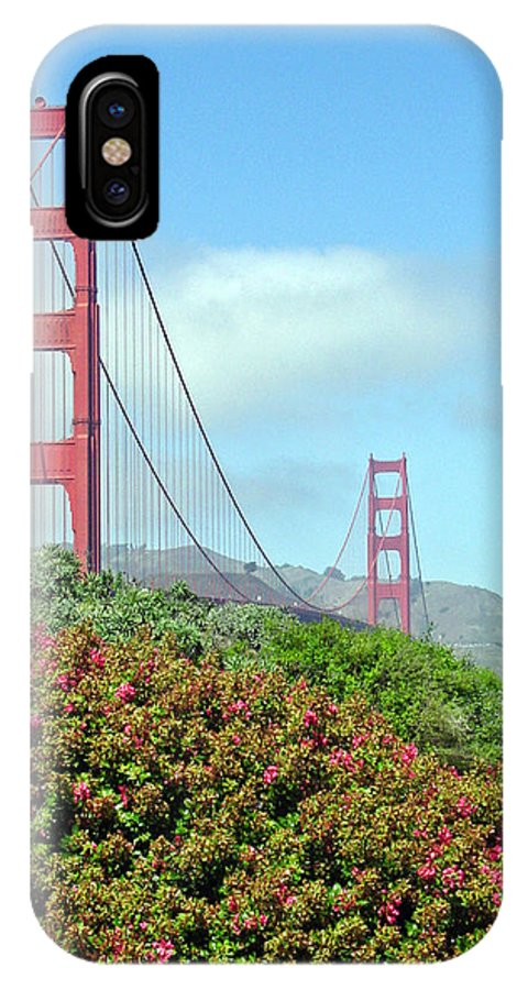 Golden Gate Bridge IPhone X Case featuring the photograph Golden Gate by Suzanne Gaff