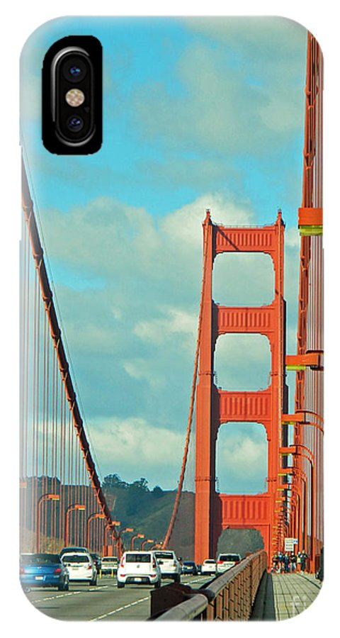 Golden Gate Walkway IPhone X Case featuring the photograph Golden Gate Walkway by Emmy Vickers
