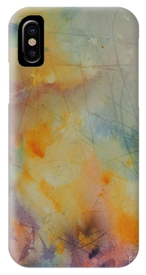 Goddess IPhone X Case featuring the painting Golden Goddess by Laura Hamill
