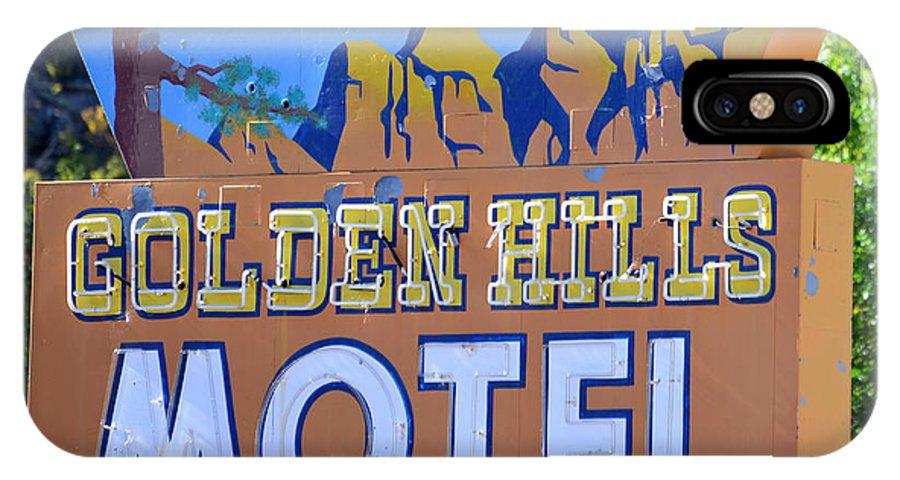 Golden Hills Motel Utah IPhone X Case featuring the photograph Golden Hills Motel Utah by David Lee Thompson