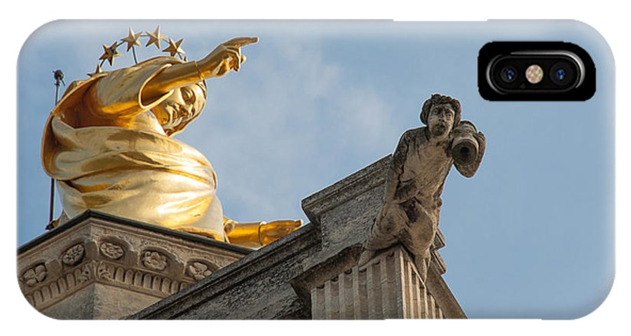 Europe IPhone X / XS Case featuring the photograph Golden Lady by Oleg Koryagin