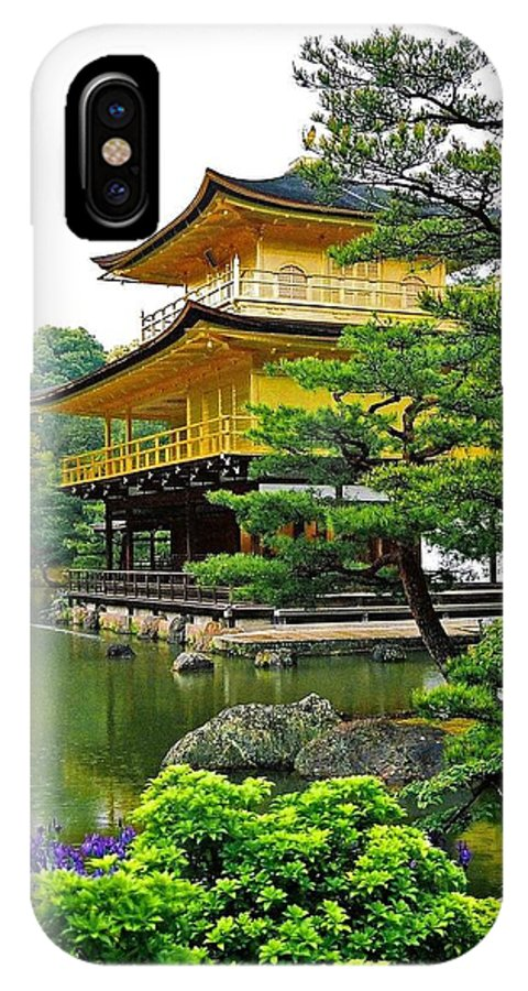 Asia IPhone X Case featuring the photograph Golden Pavilion - Kyoto by Juergen Weiss