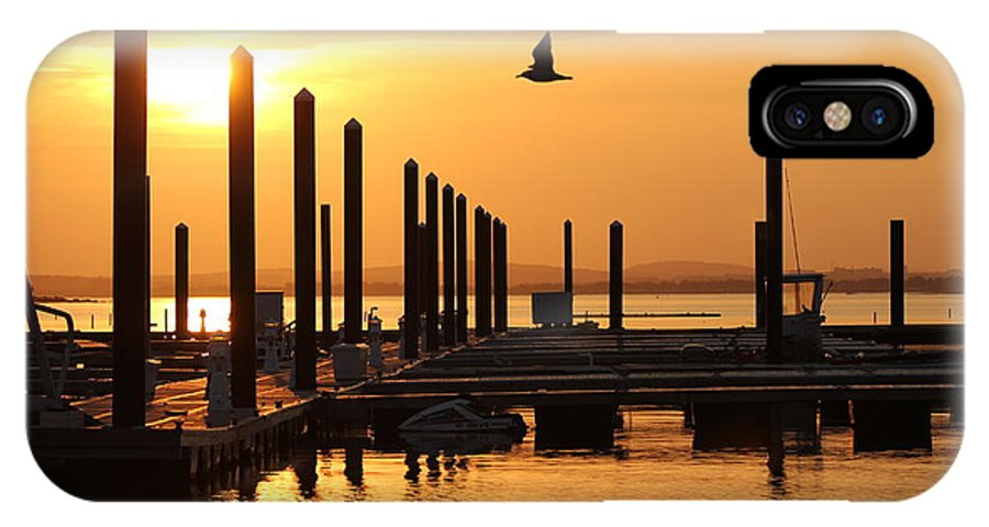Nantasket Beach IPhone X Case featuring the photograph Golden Pier At Sunset by Patricia Abbate