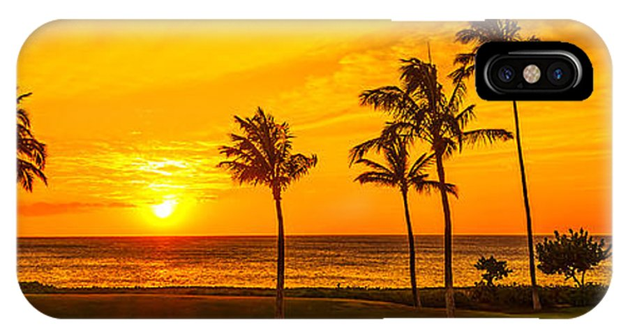 Hawaii Sunset IPhone X Case featuring the photograph Golden Sunset At Ko Olina by Aloha Art
