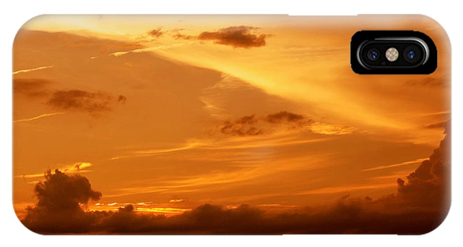 Golden IPhone X Case featuring the photograph Golden Sunset by Frank Selvage
