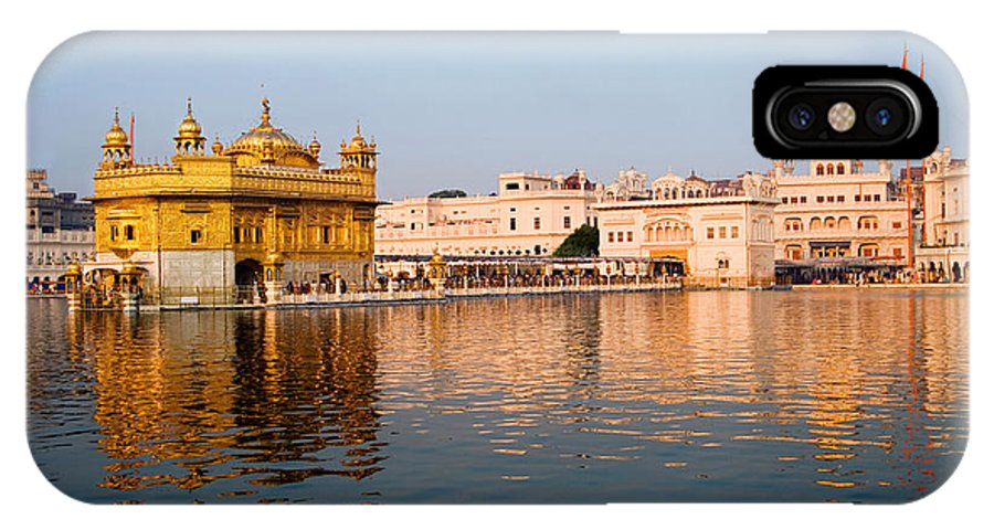 Golden Temple IPhone X Case featuring the photograph Golden Temple And Akal Takht by Devinder Sangha