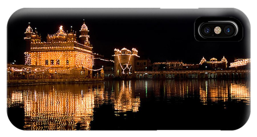 Golden Temple IPhone X Case featuring the photograph Golden Temple Reflected In Water by Devinder Sangha