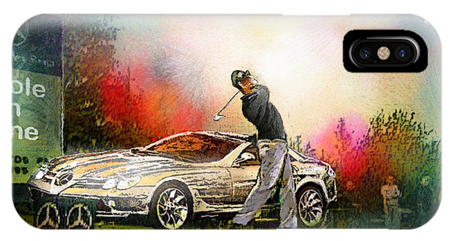 Golf IPhone X / XS Case featuring the painting Golf In Gut Laerchehof Germany 03 by Miki De Goodaboom