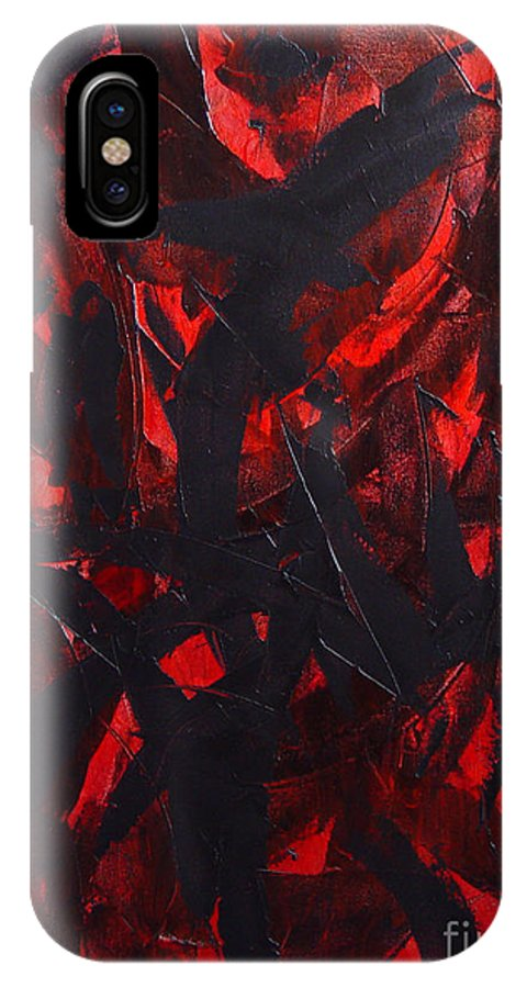 Abstract IPhone Case featuring the painting Good Bye by Dean Triolo