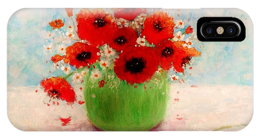 Still Life IPhone X Case featuring the painting Good Morning.. by Cristina Mihailescu