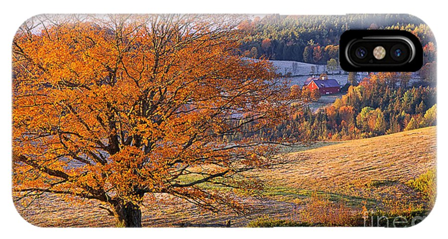 Fall IPhone X Case featuring the photograph Good Morning Vermont by Alan L Graham