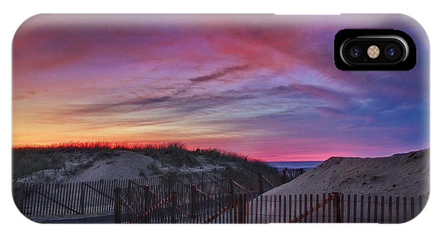 Scenic IPhone X Case featuring the photograph Good Night Cape Cod by Susan Candelario