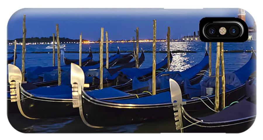Gondola IPhone X Case featuring the photograph Good Night Venice by Jon Berghoff