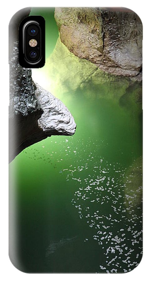 Water IPhone X Case featuring the photograph Gorges Du Fier by Francesco Scali