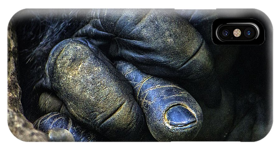Gorilla IPhone X Case featuring the photograph Gorilla's Hand by Georgina Gomez