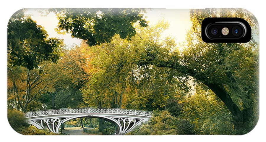 Bridge IPhone X Case featuring the photograph Gothic Bridge In Central Park by Jessica Jenney