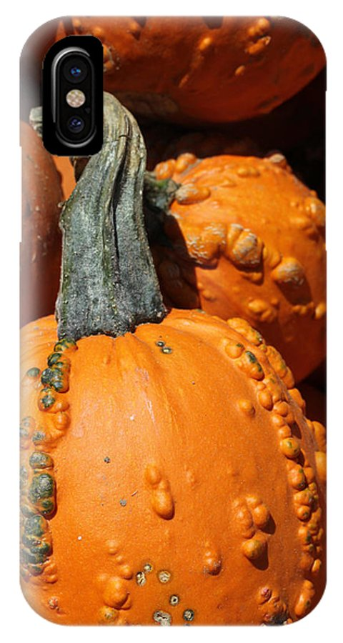 Gourd IPhone X Case featuring the photograph Gourd by Mary Bedy