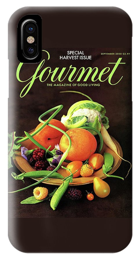 Food IPhone X Case featuring the photograph Gourmet Cover Featuring A Variety Of Fruit by Romulo Yanes