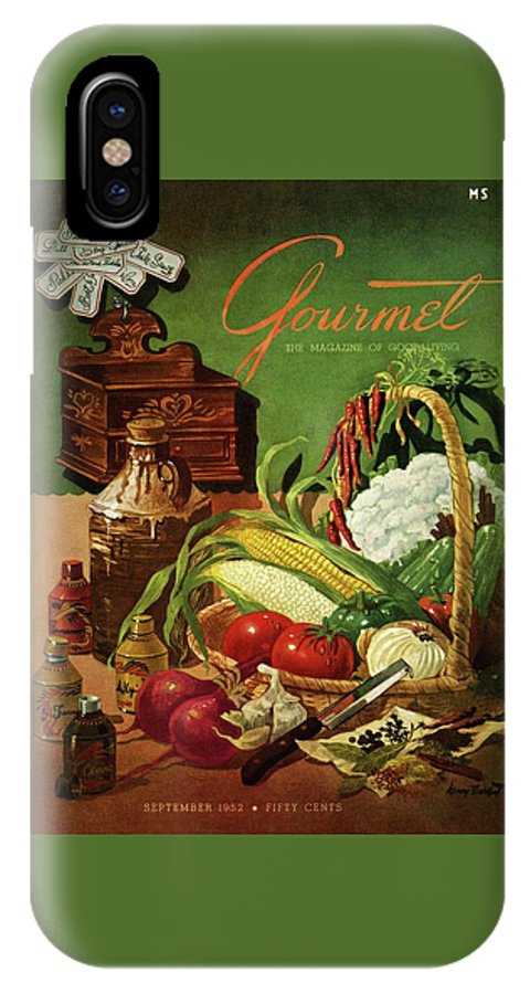 Food IPhone X Case featuring the photograph Gourmet Cover Featuring A Variety Of Vegetables by Henry Stahlhut