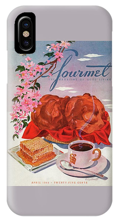 Food IPhone X Case featuring the photograph Gourmet Cover Illustration Of A Basket Of Popovers by Henry Stahlhut