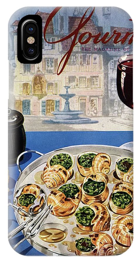 Food IPhone X Case featuring the photograph Gourmet Cover Illustration Of A Platter by Henry Stahlhut