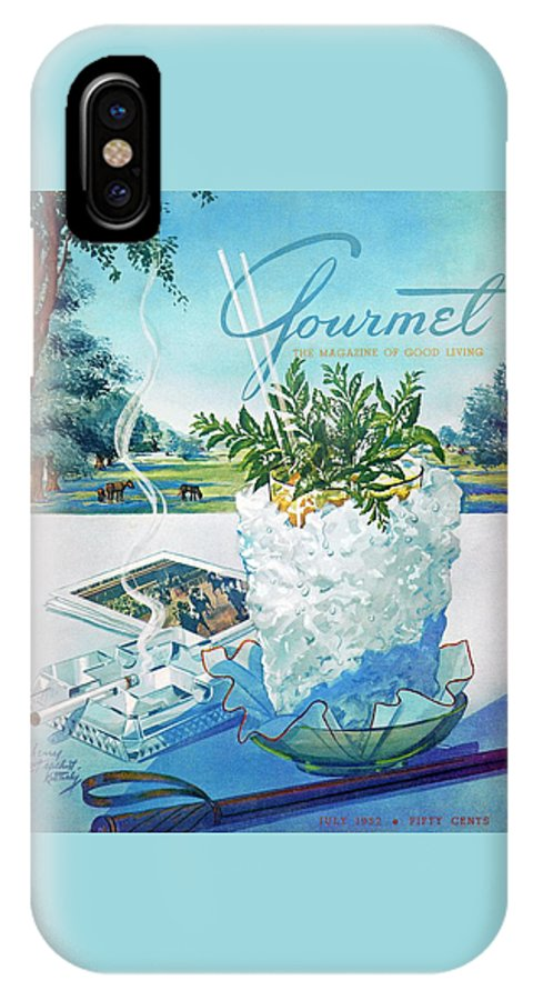 Food IPhone X Case featuring the photograph Gourmet Cover Illustration Of Mint Julep Packed by Henry Stahlhut