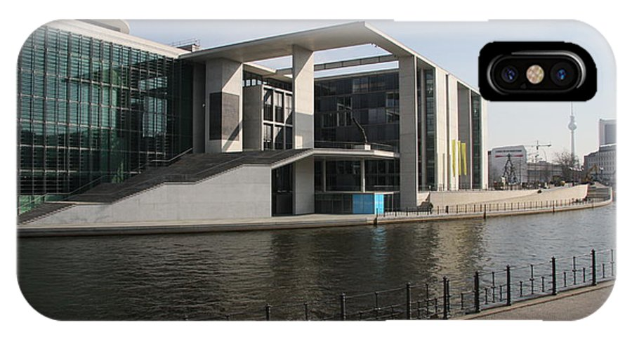 Government Building IPhone X Case featuring the photograph Government Building Berlin by Christiane Schulze Art And Photography
