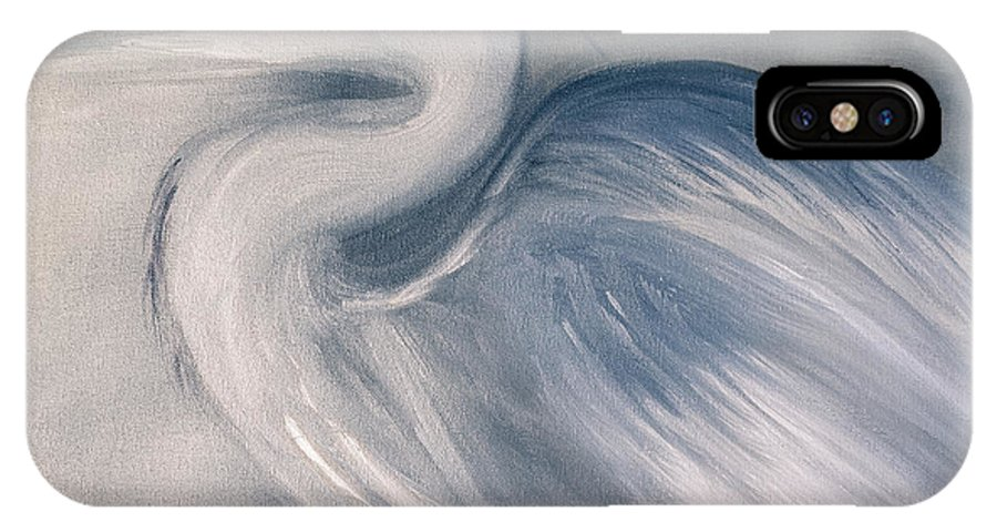 Blue Crane IPhone X Case featuring the painting Grace IIi by Kerri Mahan