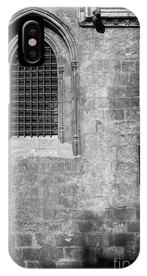 Mono IPhone X Case featuring the photograph Granada Cathedral Monochrome by Guido Montanes Castillo