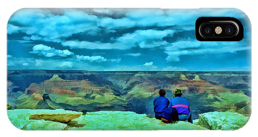 Grand Canyon IPhone X Case featuring the photograph Grand Canyon # 7 - Hopi Point by Allen Beatty