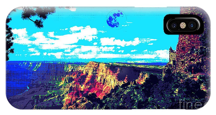 Grand Canyon IPhone X Case featuring the digital art Grand Canyon by Celestial Images