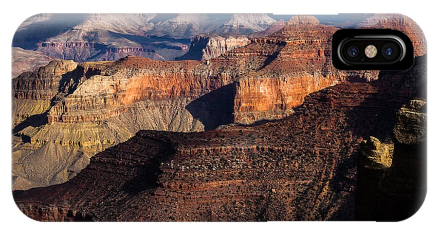 Arizona IPhone X Case featuring the photograph Grand Canyon Colors by Ed Gleichman